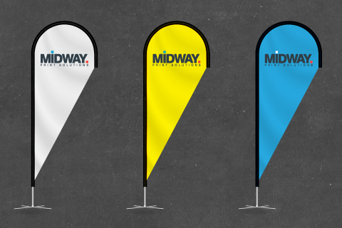 Midway Print - Teardrop Banner