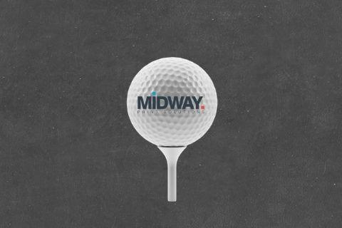 Midway Print - Golf Ball