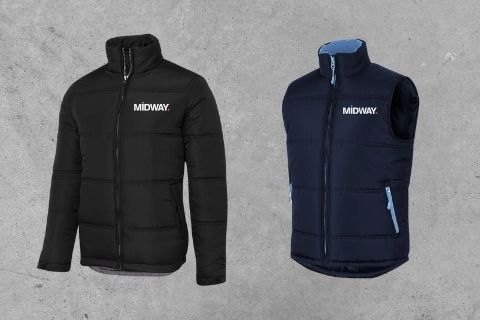 Midway Print - Jacket & Vest